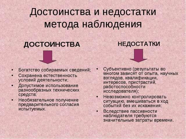 Классификации видов психологического наблюдения