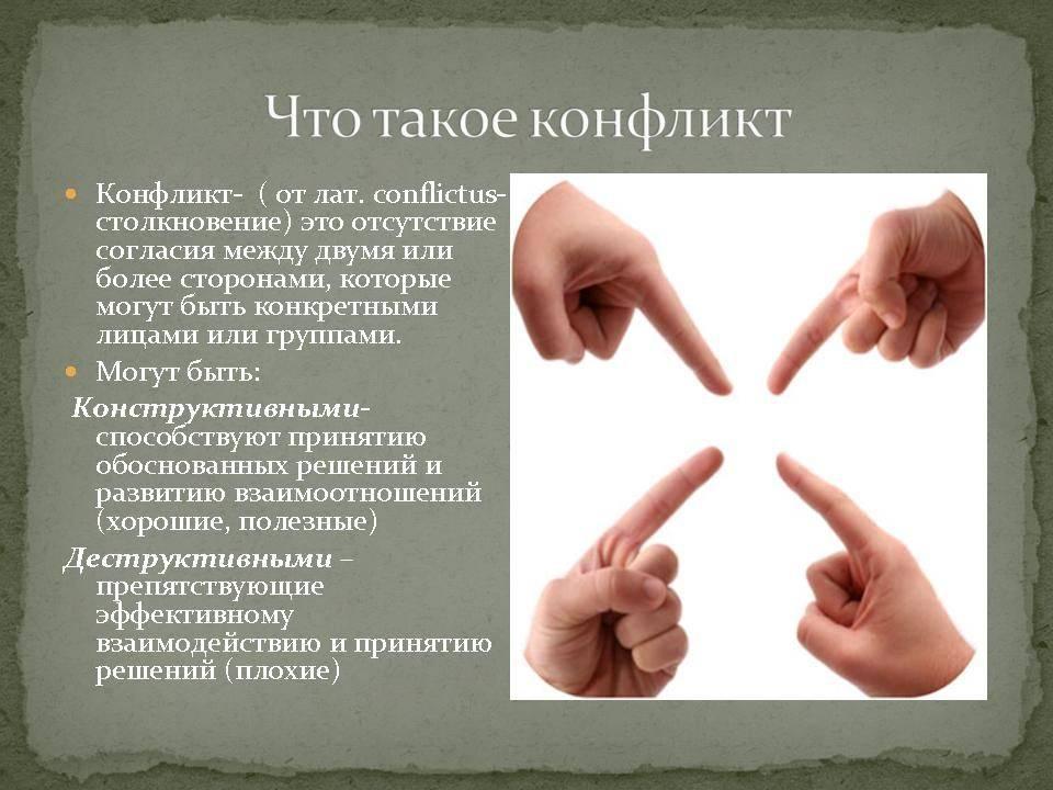 Примеры конфликтных ситуаций их описание и решение