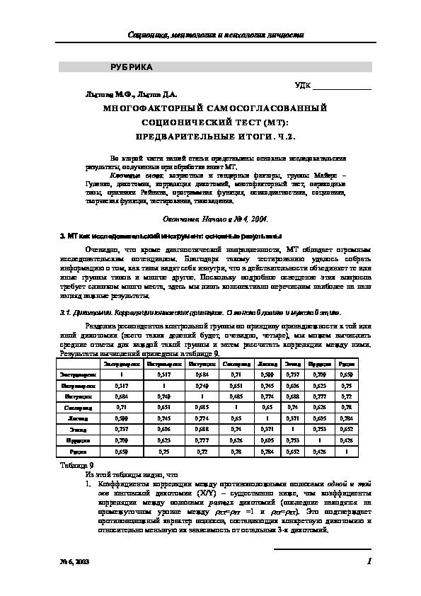 Экспериментальное исследование признаков рейнина (таланов) | признаки рейнина