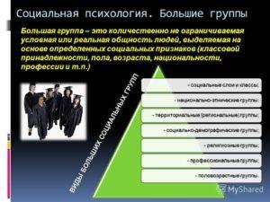 Понятие «группа» всоциальной психологии
