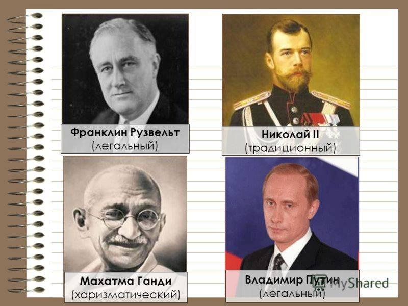 Кого называют харизматическими лидерами