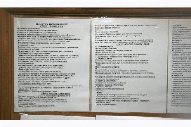 Подготовка к исповеди. список грехов для исповеди