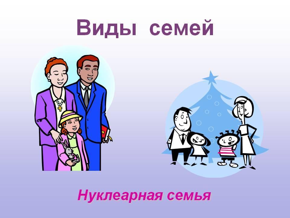 Виды семейных отношений