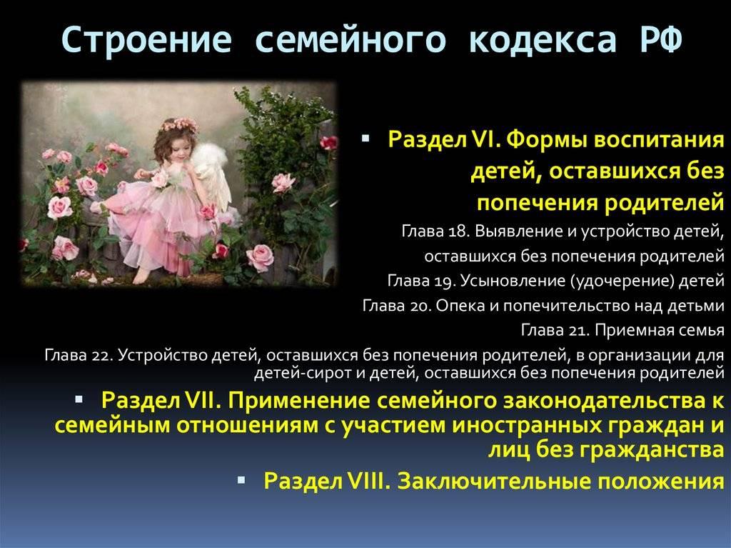 Семейный кодекс.глава 12. права и обязанности родителей. семейный кодекс лишение родительских прав