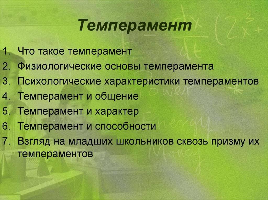 Темперамент — что это, его типы, особенности и как определить свой темперамент (популярные тесты)