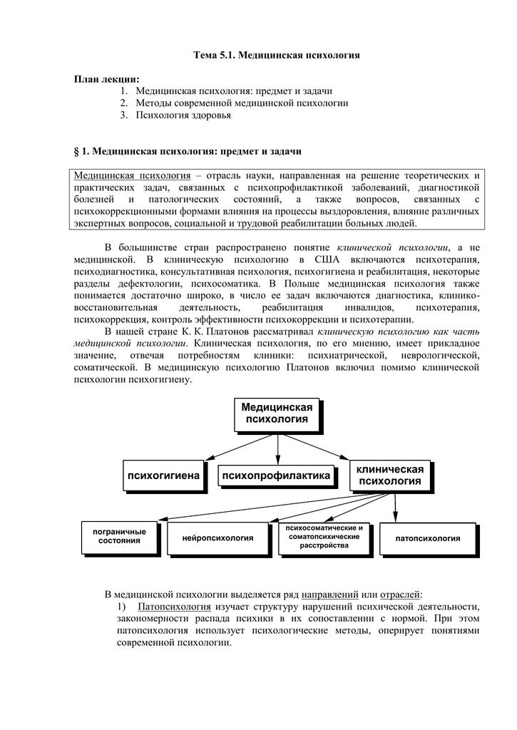 Особенности психологии больных людей