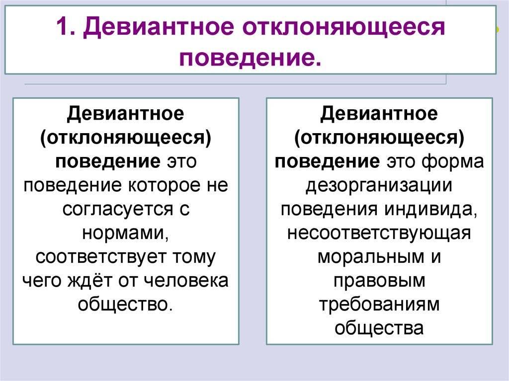 Причины девиантного поведения человека