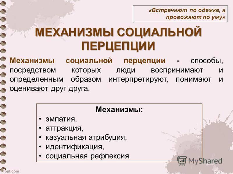 Перцепция: механизмы, это в психологии, процессы, эффекты, функции, виды (социальная, межличностная), особенности, факторы, феномены