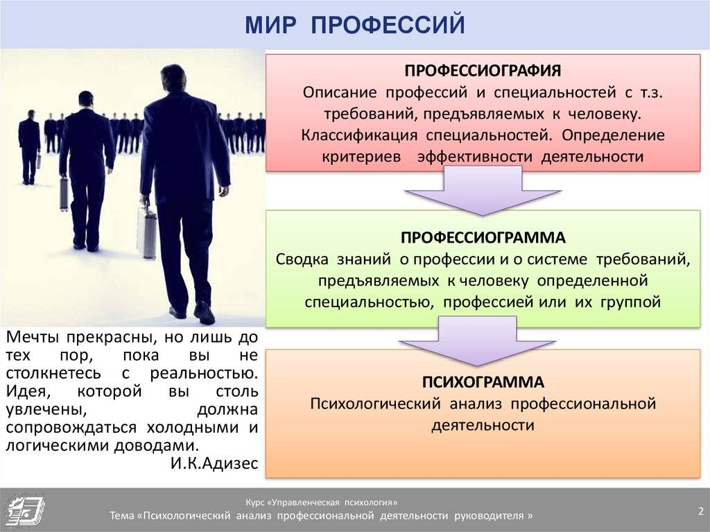 Особенности профессии психолога