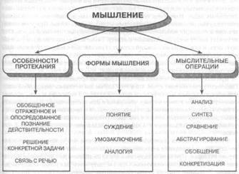 Процессы мышления: определение, в каком виде осуществляется, понятие и результаты