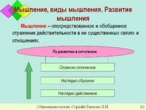 Виды мышления, нарушения и способы развития в разном возрасте