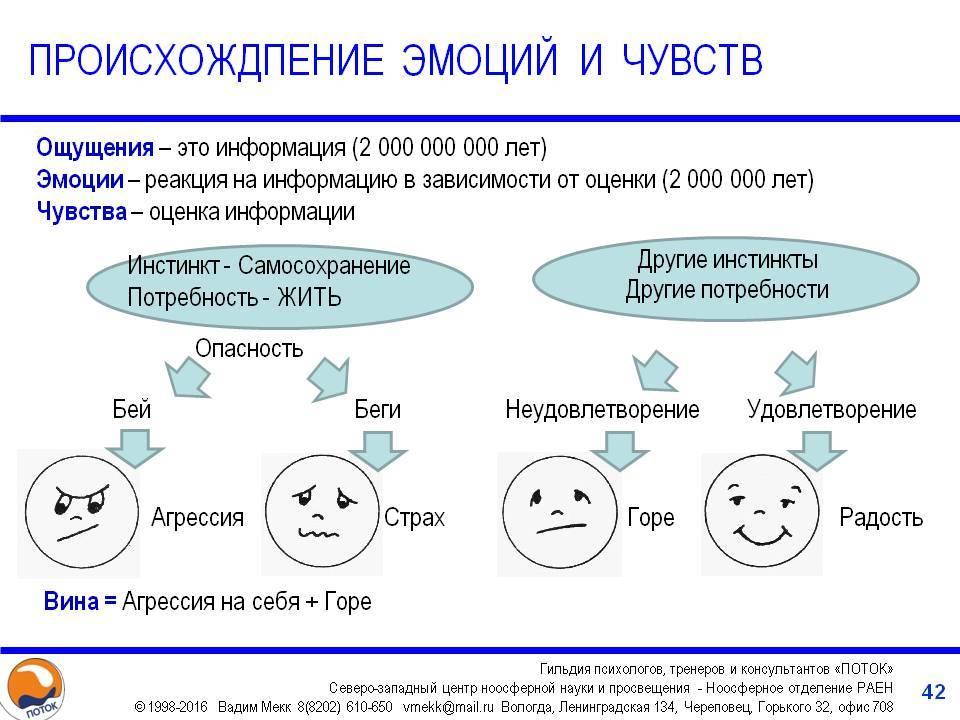 Эмоции и чувства в психологии (кратко)