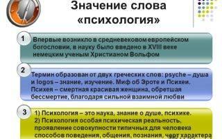 Слово психология