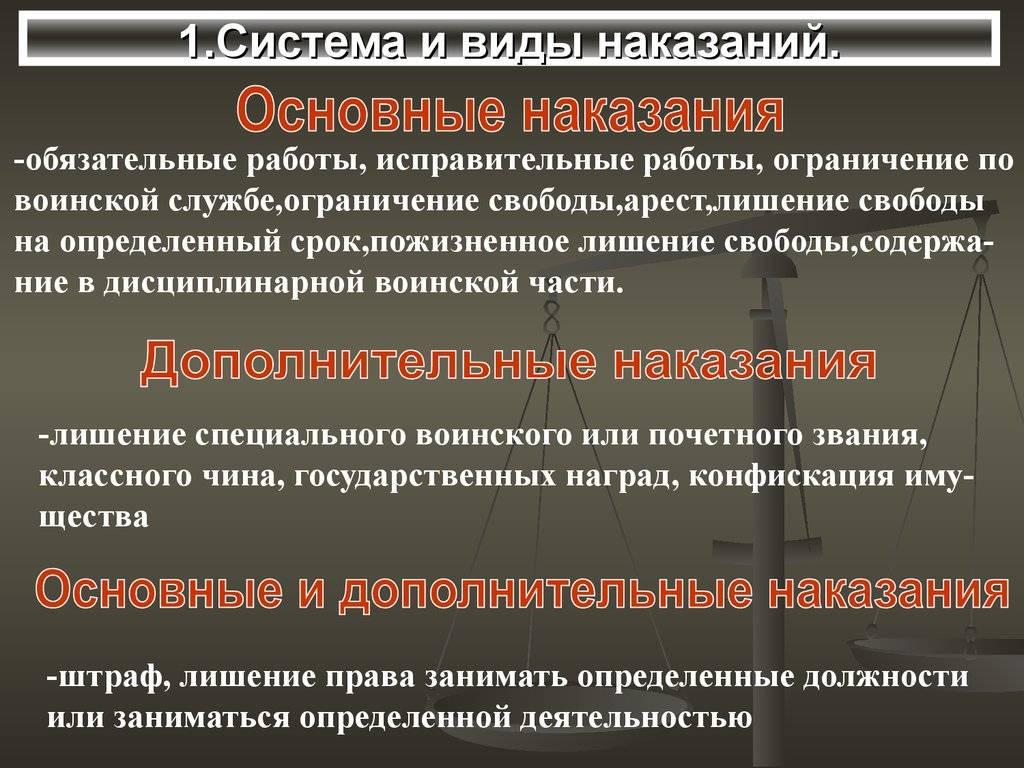 Наказание в уголовном праве россии — википедия с видео // wiki 2