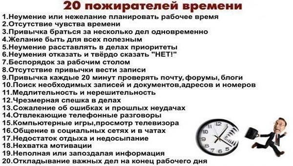Хронофаги: кто ворует наше время?